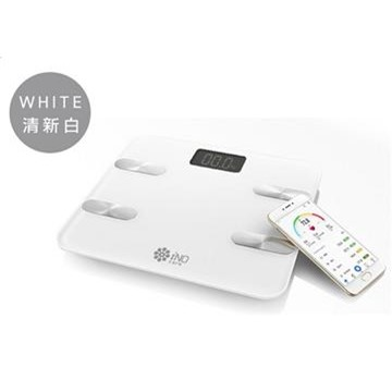 iNO 藍牙體重計(白)
