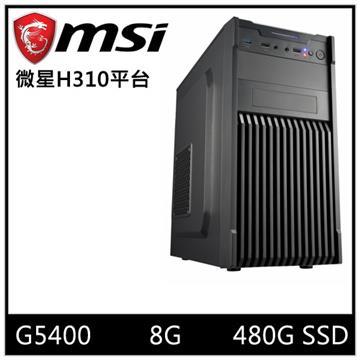 MSI微星平台[雷霆武神]桌上型電腦(G5400/H310/8GD4/480GB)