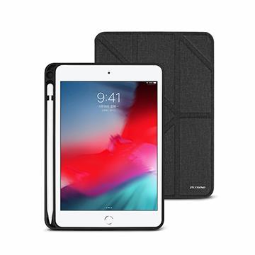 JTLEGEND iPad Mini 7.9吋筆槽布紋皮套-黑