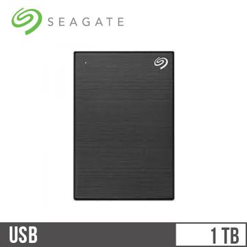 Seagate希捷 Backup Plus Slim 2.5吋 1TB行動硬碟 極夜黑