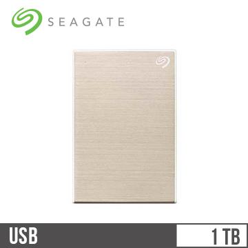 Seagate希捷 Backup Plus Slim 2.5吋 1TB行動硬碟 香檳金