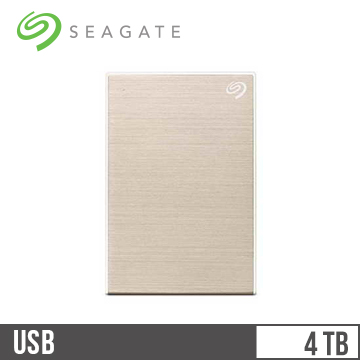 【4TB】Seagate 2.5吋 行動硬碟 Portable-金