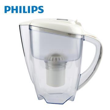 飛利浦Philips 超濾帶計時器3.5L濾水壺(白)