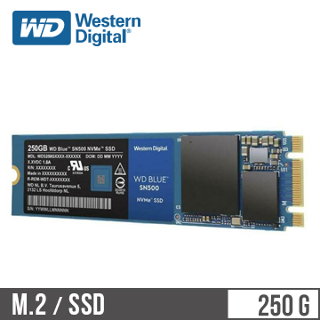 【250G】WD NVMe PCIe 固態硬碟(SN500)