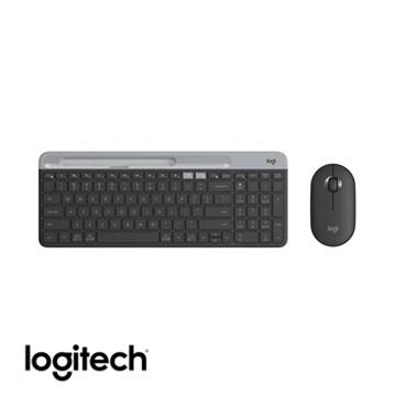 (超值鍵鼠組)羅技Logitech 超薄跨平台藍牙鍵盤 石墨黑+鵝卵石無線滑鼠 K580/M350 920-009212