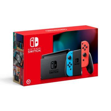 【超值二片遊戲組】Switch 主機-藍/紅-電池加強版