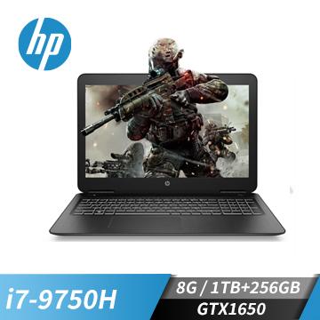 (福利品)HP惠普 Pavilion 筆記型電腦(i7-9750H/GTX1650/8G/256G+1T)