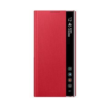 SAMSUNG Note10 原廠全透視感應皮套-紅