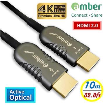 amber PREMIUM HDMI主動式光纖4K線材-10M