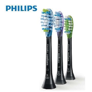 飛利浦Philips 智能綜合刷頭(3入裝/黑)8盒
