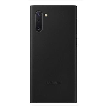 SAMSUNG Note10 原廠皮革背蓋-黑