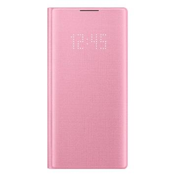 SAMSUNG Note10 原廠LED皮革翻頁式皮套-粉