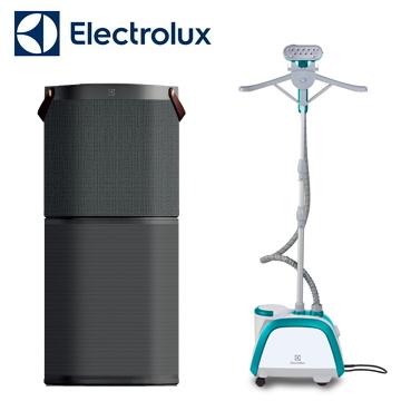 Electrolux 高效能抗菌空氣清淨機(沉穩黑) + Electrolux 掛燙機 EGS2103