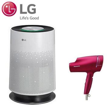 (組合)LG PuriCare 空氣清淨機 + Panasonic奈米水離子吹風機  EH-NA9B-RP