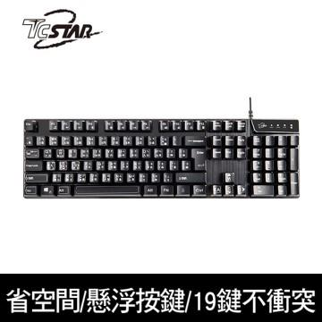 T.C.STAR TCK465 多媒體高衝程有線鍵盤