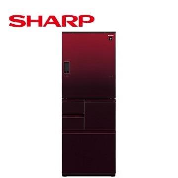 【福利品】展-SHARP 502公升左右開五門變頻冰箱 SJ-WX50ET-R(星鑽紅)