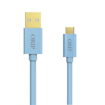 ORIP Type-C USB傳輸充電線藍-1.5M