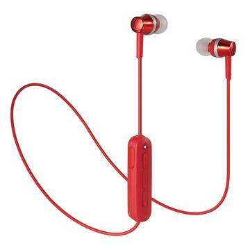 (福利品)鐵三角Audio-Technica 耳塞式藍牙耳機-紅