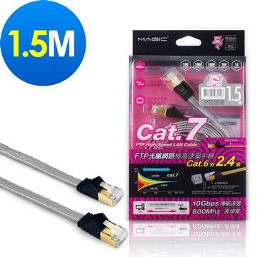 MAGIC Cat.7光纖極高速網路扁線-1.5米 CBH-CAT7-F015S