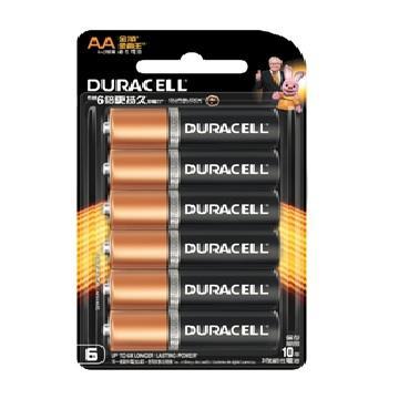 金頂DURACELL 金霸王鹼性電池3號4+2入