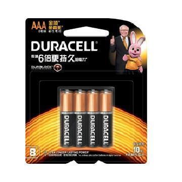 金頂DURACELL 金霸王鹼性電池4號8入