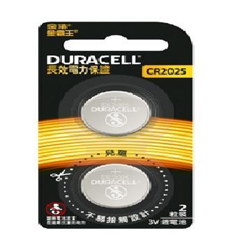 金頂DURACELL 金霸王鋰電池CR2025 2入 CR 2025