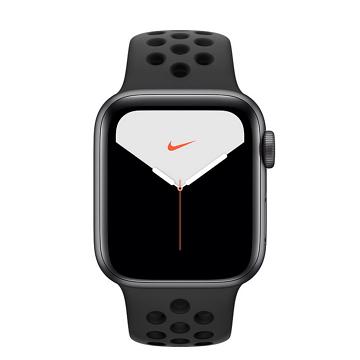 Apple Watch S5 Nike+ GPS 44/灰鋁/黑底黑洞運動錶帶