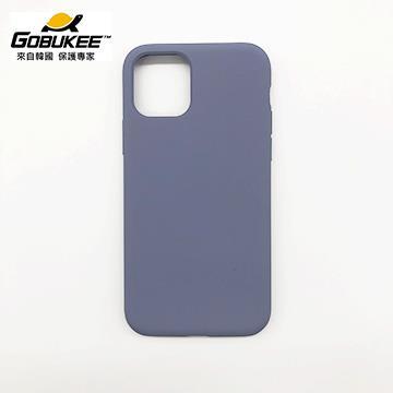 Gobukee iPhone 11 極纖矽膠保護套-紫