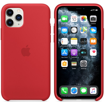 Apple iPhone 11 Pro 矽膠保護殼 紅色(PRODUCT)