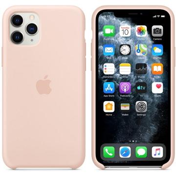 Apple iPhone 11 Pro 矽膠保護殼 粉沙色