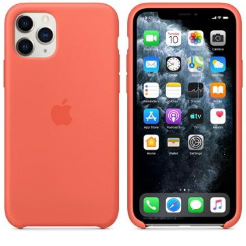 Apple iPhone 11 Pro 矽膠保護殼 柑橘色
