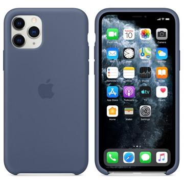Apple iPhone 11 Pro 矽膠保護殼 阿拉斯加藍色