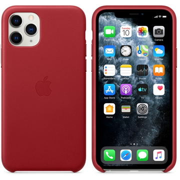 Apple iPhone 11 Pro 皮革保護殼 紅色(PRODUCT)