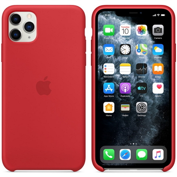 Apple iPhone 11 Pro Max 矽膠保護殼 紅(PRODUCT)