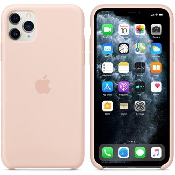 Apple iPhone 11 Pro Max 矽膠保護殼 粉沙色