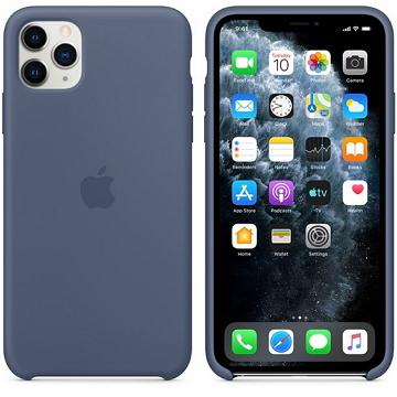 Apple iPhone 11 Pro Max 矽膠保護殼 阿拉斯加藍