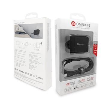 亞果元素ADAM USB-C to Lightning PD快充組-黑