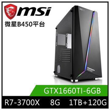微星平台[魔力鬥將]R7八核獨顯SSD電腦
