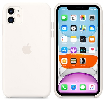 Apple iPhone 11 矽膠保護殼 白色 MWVX2FE/A