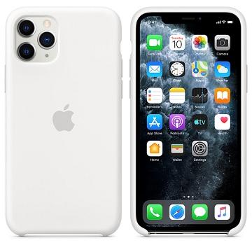 Apple iPhone 11 Pro 矽膠保護殼 白色
