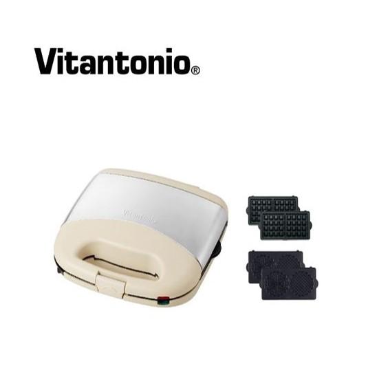 【展示品】Vitantonio鬆餅機(奶油白)