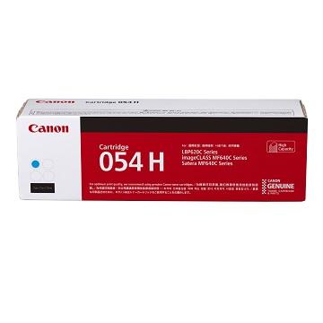 Canon CARTRIDGE 054H C高容量藍色碳粉匣