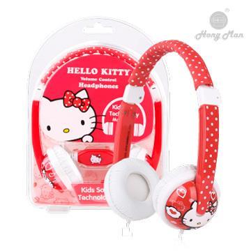 Hong man 三麗鷗系列 兒童耳機-Hello Kitty
