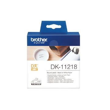Brother DK-11218 圓形標籤帶