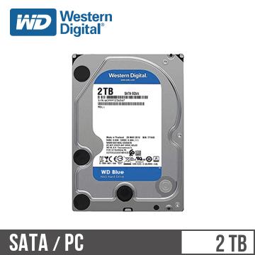 WD威騰 3.5吋 2TB SATA硬碟 藍標