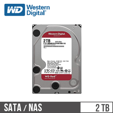 WD威騰 3.5吋 2TB SATA硬碟 紅標