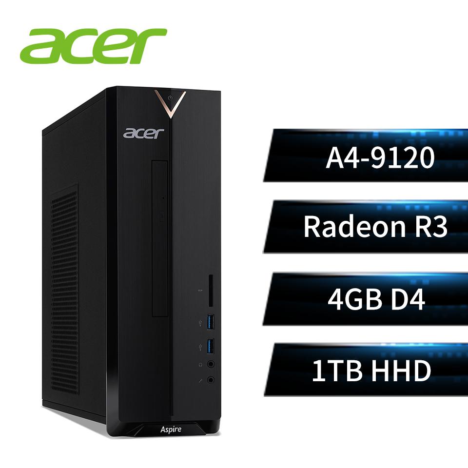 【展示品】宏碁(acer)桌上型主機宏碁Acer Aspire XC-330 文書桌機(AMD A4-9120/4GD4/1TB/W10)