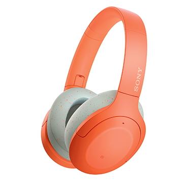 (福利品)SONY索尼 無線藍牙降噪耳罩耳機-橘