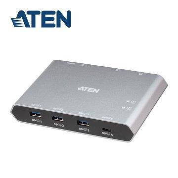 ATEN US3342 2埠USB-C G.2跨平台分享切換器
