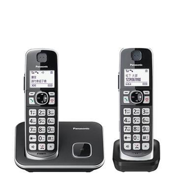國際牌Panasonic 中文輸入大字鍵雙機數位無線電話 KX-TGE612TWB